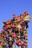 Portrait de chameau décoré au festival de désert, Jaisalmer, Inde Photographie stock libre de droits