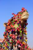 Portrait de chameau décoré au festival de désert, Jaisalmer, Inde images libres de droits