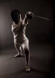 Portrait de costume de clôture blanc de port de femme Photographie stock