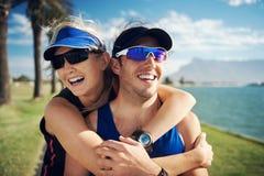Portrait de couples de forme physique Image libre de droits