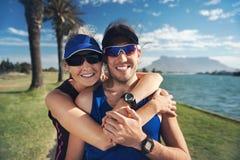 Portrait de couples de forme physique Photographie stock