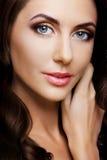 Portrait de dame de beauté. Belle jeune femme Images libres de droits