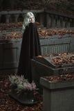 Portrait de dame de vampire Photo stock