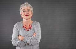 Portrait de dame supérieure sûre Image libre de droits