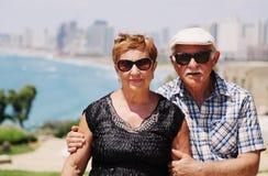 Portrait de deux 70 années de personnes d'aîné Photo libre de droits