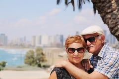 Portrait de deux 70 années de personnes d'aîné Photos libres de droits
