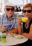 Portrait de deux 70 années de personnes d'aîné Image libre de droits
