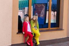 Portrait de deux belles filles blondes Photos stock
