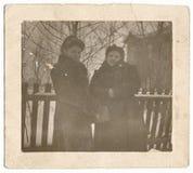 Portrait de deux belles jeunes filles Photos libres de droits