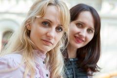 Portrait de deux femmes Images stock