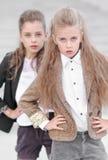 Portrait de deux filles des amies Image stock