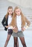 Portrait de deux filles des amies Photo stock