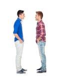 Portrait de deux frères face à face Image stock