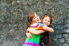 Portrait de deux petites filles 10 an Image libre de droits