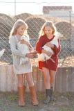 Portrait de deux soeurs Image libre de droits
