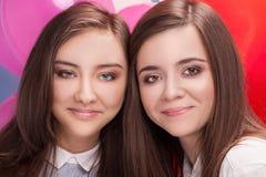Portrait de deux soeurs Images libres de droits