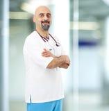 Portrait de docteur dans l'hôpital Photos libres de droits