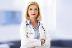Portrait de docteur de Femal Photo stock