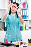 Portrait de docteur féminin Photo stock