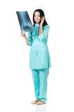 Portrait de docteur féminin Images libres de droits