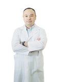 Portrait de docteur sur le fond blanc Photographie stock