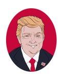 09 11 2016 Portrait de Donald Trump, Etats-Unis présidentiels Photo libre de droits