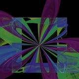 Portrait de explosion de fleur | Art de fractale images stock