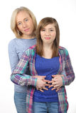 Portrait de famille de mère et de fille images libres de droits