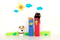 Portrait de famille de marionnette Image libre de droits