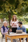 Portrait de famille de négociant en vins Image stock