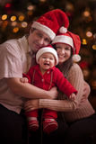 Portrait de famille de Noël Photographie stock