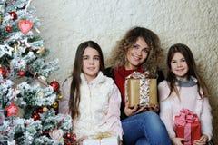 Portrait de famille de Noël photos libres de droits