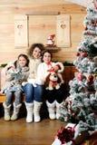 Portrait de famille de Noël image stock