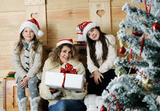 Portrait de famille de Noël photographie stock libre de droits