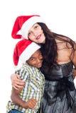 Portrait de famille de sourire de Noël Photo stock