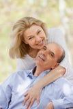 Portrait de famille de sourire mûre Photographie stock libre de droits