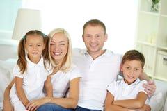 Famille de quatre image stock