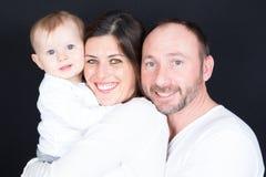 Portrait de famille de mère de père et de petit fils Photos stock