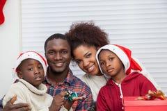 Portrait de famille noire Photo libre de droits