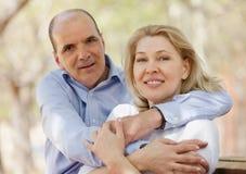Portrait de famille positive mûre Image libre de droits