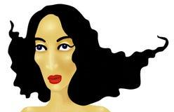 Portrait de femme Illustration de Vecteur