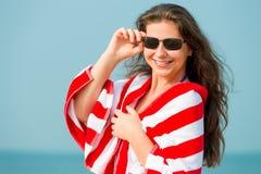 Portrait de femme 30 ans de repos Photos stock