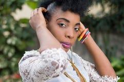 Portrait de femme assez africaine Images libres de droits