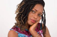 Portrait de femme assez africaine Photos libres de droits