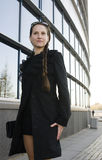 Portrait de femme assez jeune d'affaires Images libres de droits