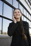 Portrait de femme assez jeune d'affaires Image libre de droits