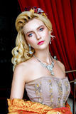 Portrait de femme baroque de mode image stock