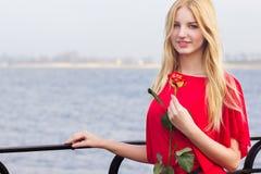 Portrait de femme blonde Image libre de droits