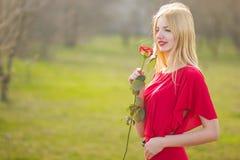 Portrait de femme blonde Images libres de droits