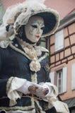 Portrait de femme Costumed au défilé vénitien dans Riquewihr en Alsace Photographie stock libre de droits